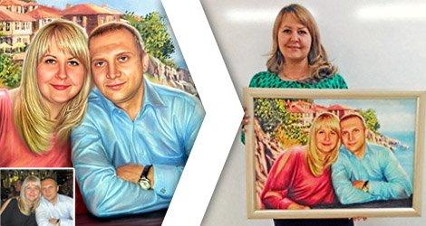 Семейный портрет по фото заказать