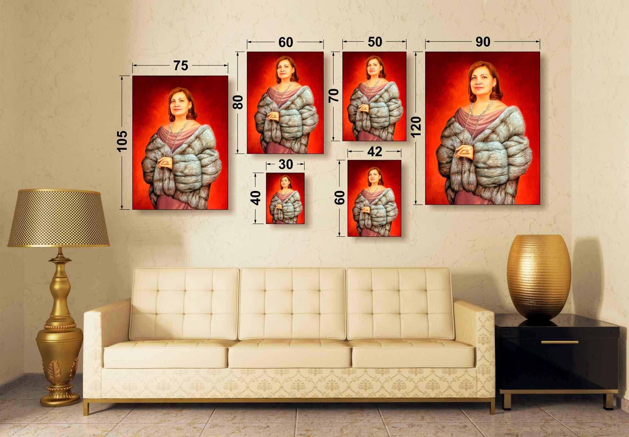 Размеры портретов